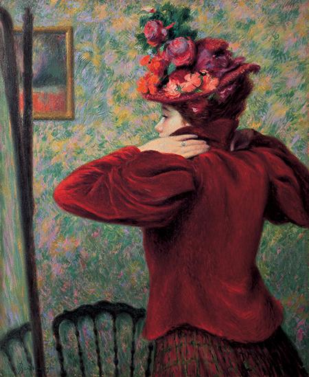 02_Federico Zandomeneghi, Il giubbetto rosso, 1895 circa, antica collezione Camillo Giussani - Copia copia