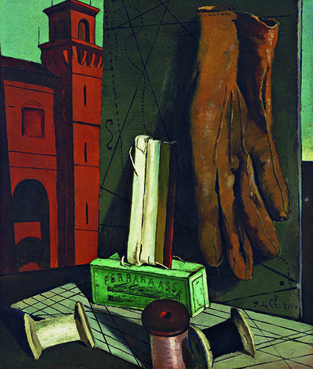 De Chirico, Giorgio (1888-1978): The Amusements of a Young Girl, 1916 (?). New York, Museum of Modern Art (MoMA)*** Permission for usage must be provided in writing from Scala.