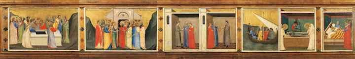 1_Bernardo Daddi Storie della sacra Cintola Prato Museo di Palazzo Pretorio copia 2