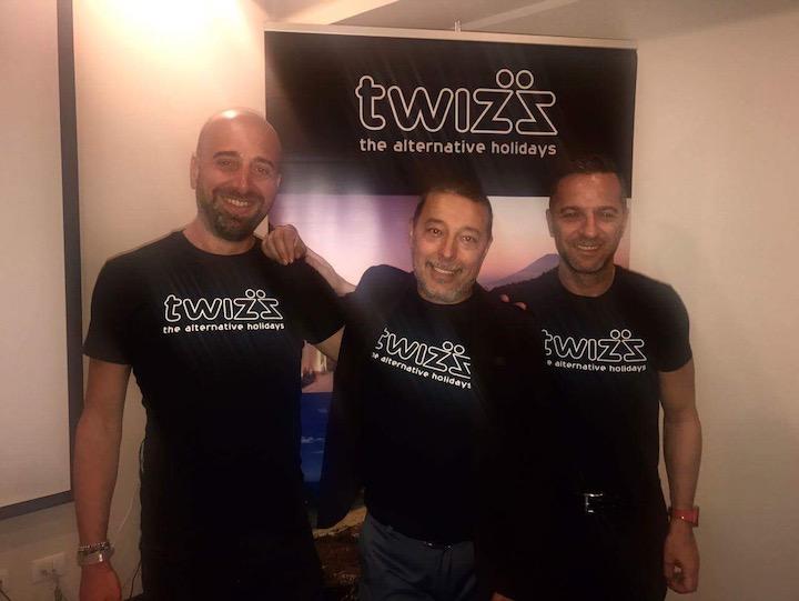 3) Franco Fumagalli, CEO Tau Viaggi e Twizz con Fabio Ventimiglia e Romano Simonelli, brand manager Twizz copia