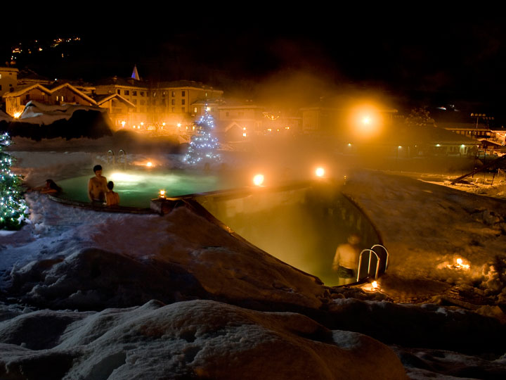 viaggio terme pre saint didier piscina esterna relax terme spa emotions magazine rivista viaggi turismo