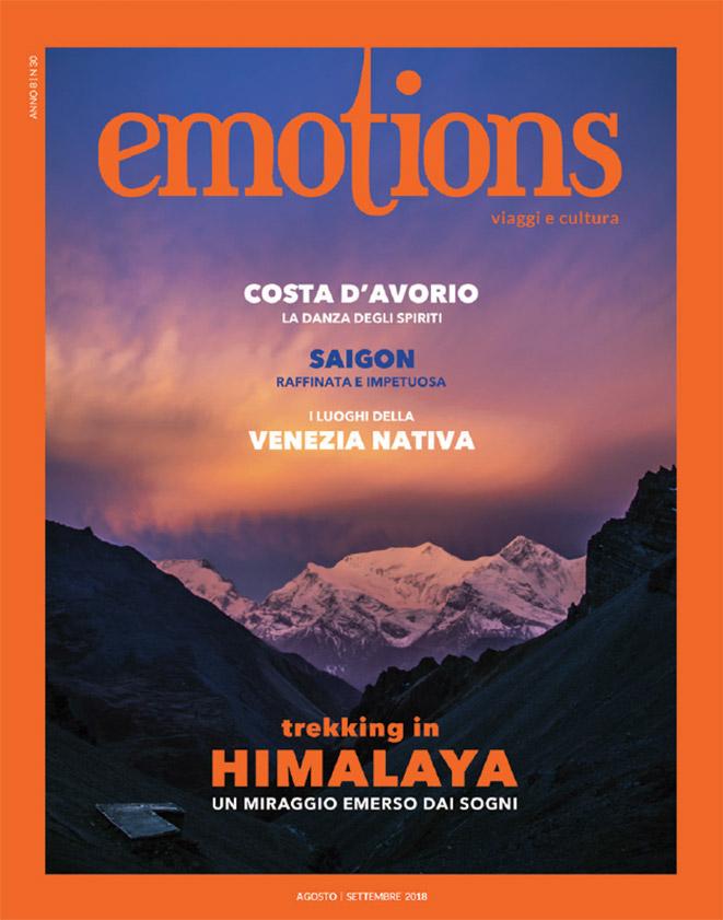emotions magazine rivista viaggi e turismo agosto-settembre 2018 anno8 n30
