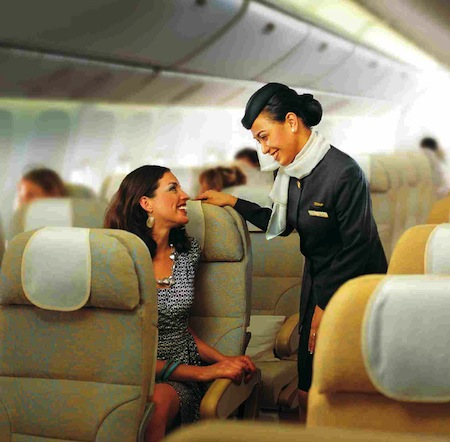 3) Etihad-hostess
