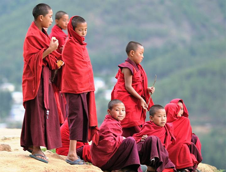BHUTAN - giovani monaci
