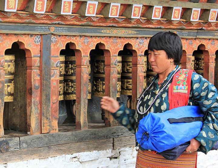 Bhutan 2- ruote della preghiera