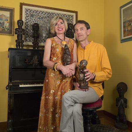 Bruno Albertino e Anna Alberghina fotografati da Plinio Martelli