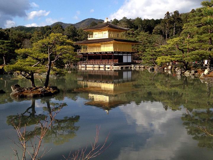 Kyoto, tempio Kinkaku-ji copia