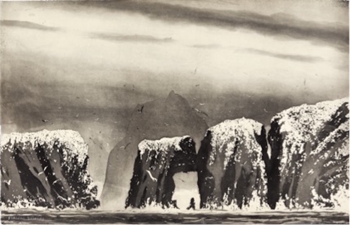 Norman Ackroyd_Flannan Islands copia