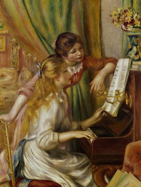 RENOIR,  Jeunes filles au piano, 1892, olio su tela