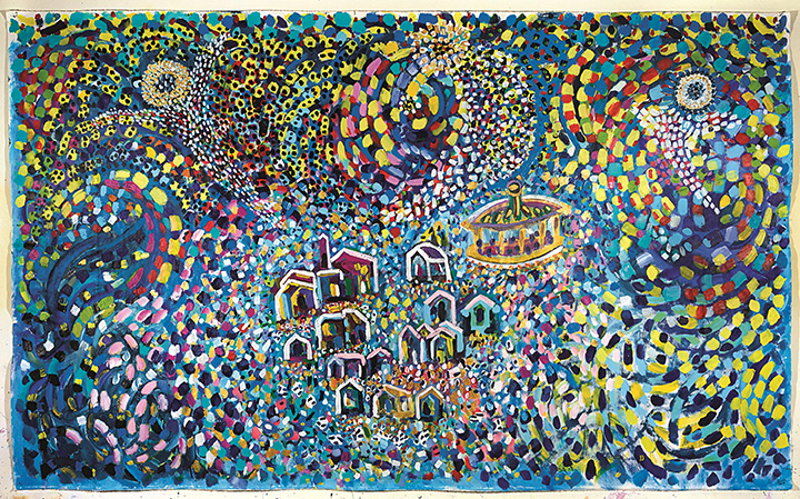 Sandro Zendralli, Beetlemme, 2013, Acrilico su tela, cm 360 x 220 copia