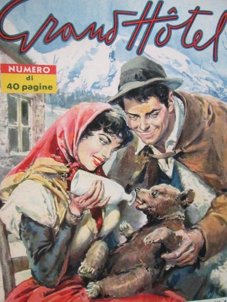 Walter Molino, L.orsetto sperduto, Grand Hotel, 16 febbraio 1957 copia
