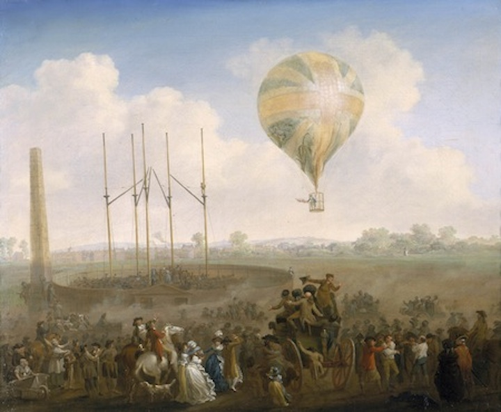 The Ascent of Lunardi's Balloon from St George's Fields: 1788-1790