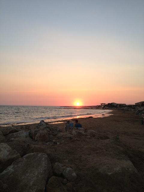 tramonto al mare copia