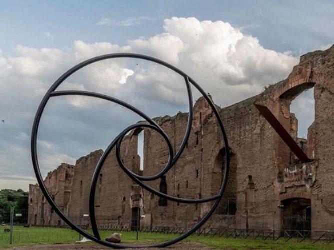 mauro staccioli - mostra arte contemporanea - roma- terme caracalla - emotions magazine - rivista viaggi - rivista turismo